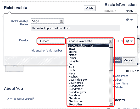 facebook and family relationships